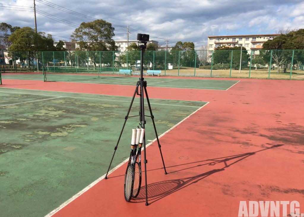 テニス撮影用三脚
